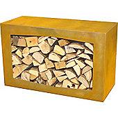 Gardenmaxx Woodbox Log Storage 35cm - Corten