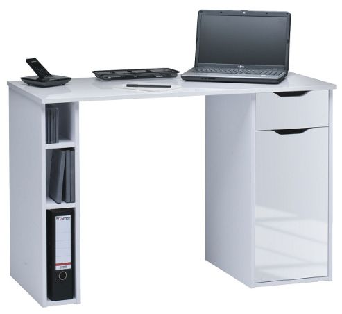 Buy maja vegas white computer desk from our office desks tables range tesco - Tesco office desk ...