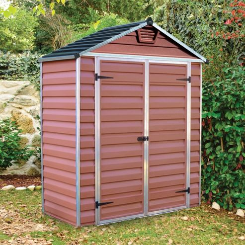 Buy palram skylight amber plastic shed 6x3ft from our for Garden shed tesco
