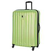 IT Luggage Ultra Strong 4-Wheel Hard Shell Suitcase, Lime Extra Large