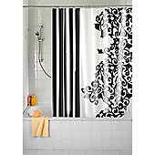 Wenko Ornamento Nero Textile Shower Curtain