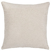 Plain Chenille Cushion Ivory
