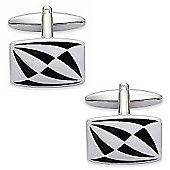 Black Enamel Horn Cufflinks - By Aston Brown