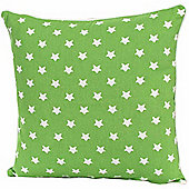 Homescapes Cotton Green Stars Scatter Cushion, 45 x 45 cm