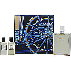 Hermes Terre d'Hermès Eau Très Fraîche Gift Set 125ml EDT + 40ml Hair and Body Shower Gel + 40ml After Shave Balm For Men