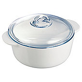 Pyrex Flame Round 2L Casserole Dish