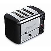 Rowlett Rutland Esprit 3 Slice Thick and Thin Toaster with 2 Thin and 1 Thick Bun Mode Slot - Black