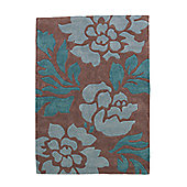 Oriental Carpets & Rugs Hong Kong 33L Brown/Blue Rug - 120cm x 170cm