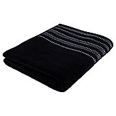 Kingsley Black Sparkle Border Bath Sheet