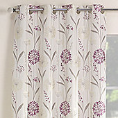 Julian Charles Santorini Lilac Luxury Jacquard Eyelet Curtain -112x183cm