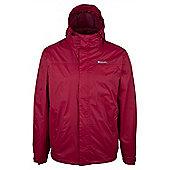 Mens Outdoor Hooded Torrent Waterproof Jacket - Red