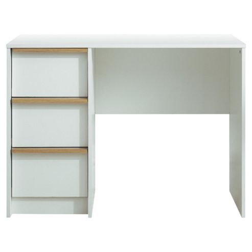 Trenton Computer Desk, White/Oak