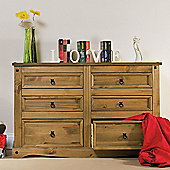 Home Essence Corona 3 Over 3 Drawer Wide Chest