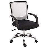 Teknik Star Mesh Black and White Office Chair