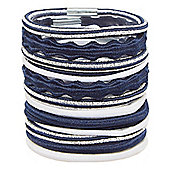 Mothercare Young Girls Navy Hair Ties - Multi Pack