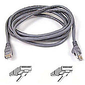 BELKIN - Belkin FastCAT 5e Shielded Snagless Patch Cable RJ45M-RJ45M (Grey)  1m