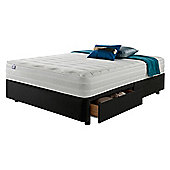 Silentnight Mirapocket 1200 Latex 2 Drawer Double Divan Charcoal no Headboard