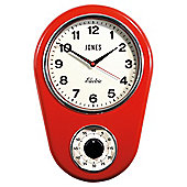 Jones & Co Kitchen Timer Clock Red