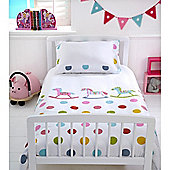 Baroo Cot Bed Duvet Cover & Pillowcase Set (Rocks & Spots)