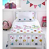 Baroo Cot Bed Duvet Cover & Pillowcase Set (Rocks & Spots)
