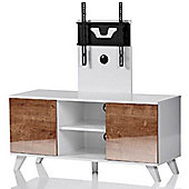 Madrid White and Oak TV Stand for up to 52 inch TVs