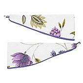 Rectella Charlotte Lavender Print Tiebacks (Pair) - 76cm (30)
