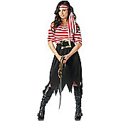 Female Pirate Costume (Stripey)