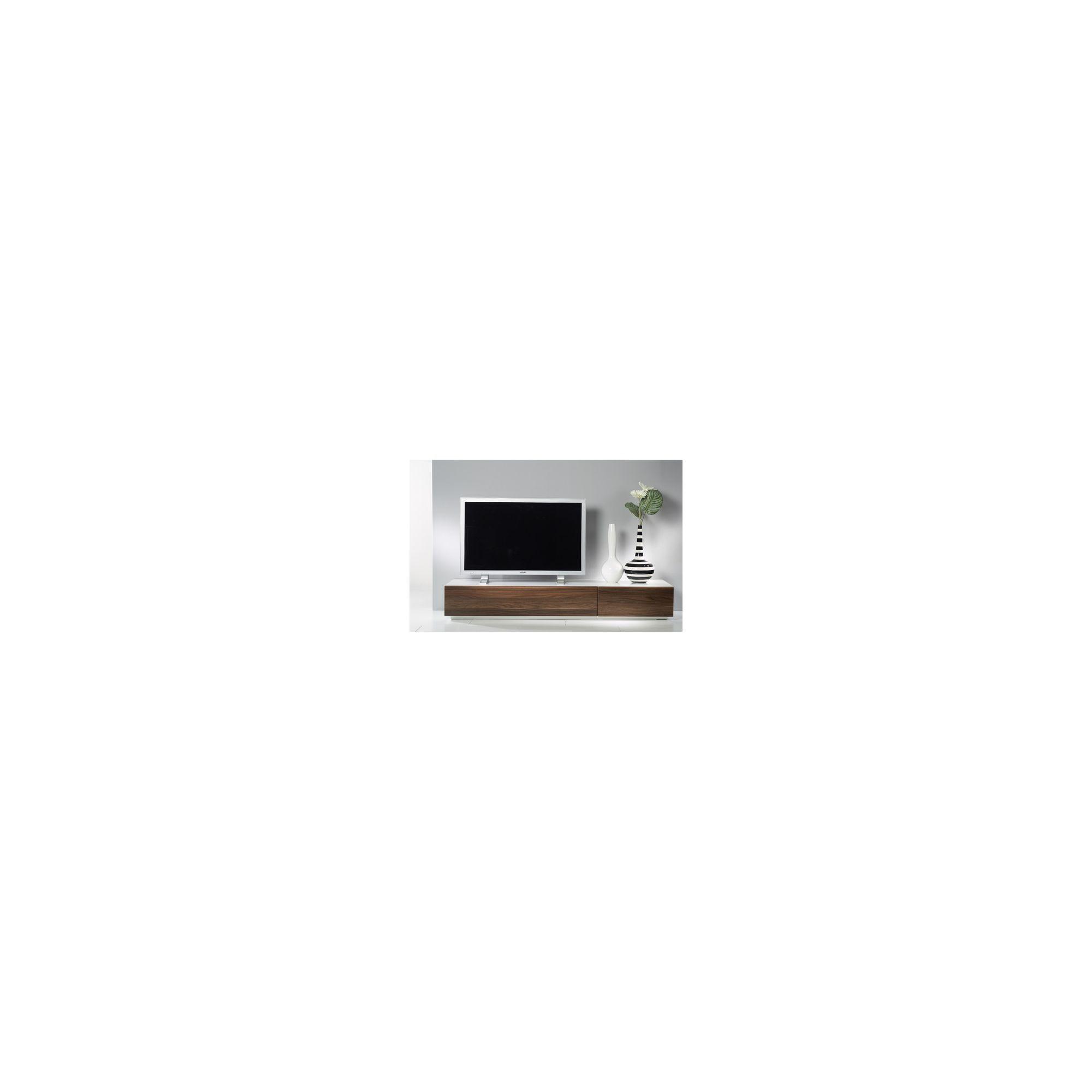 Tvilum Monaco TV Stand Combination 44 - Dark Walnut / High Gloss White at Tesco Direct