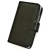 Tortoise™ Genuine Leather Folio Case HTC One X Black