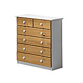 Verona Drawer Chest 4 + 2 Colour White and Antique