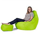 Big Bertha Original™ Indoor / Outdoor Highback & Footstool Set- Lime