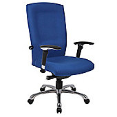 Ergonomics 4 Work Wave High Back Fabric Task Chair - Blue