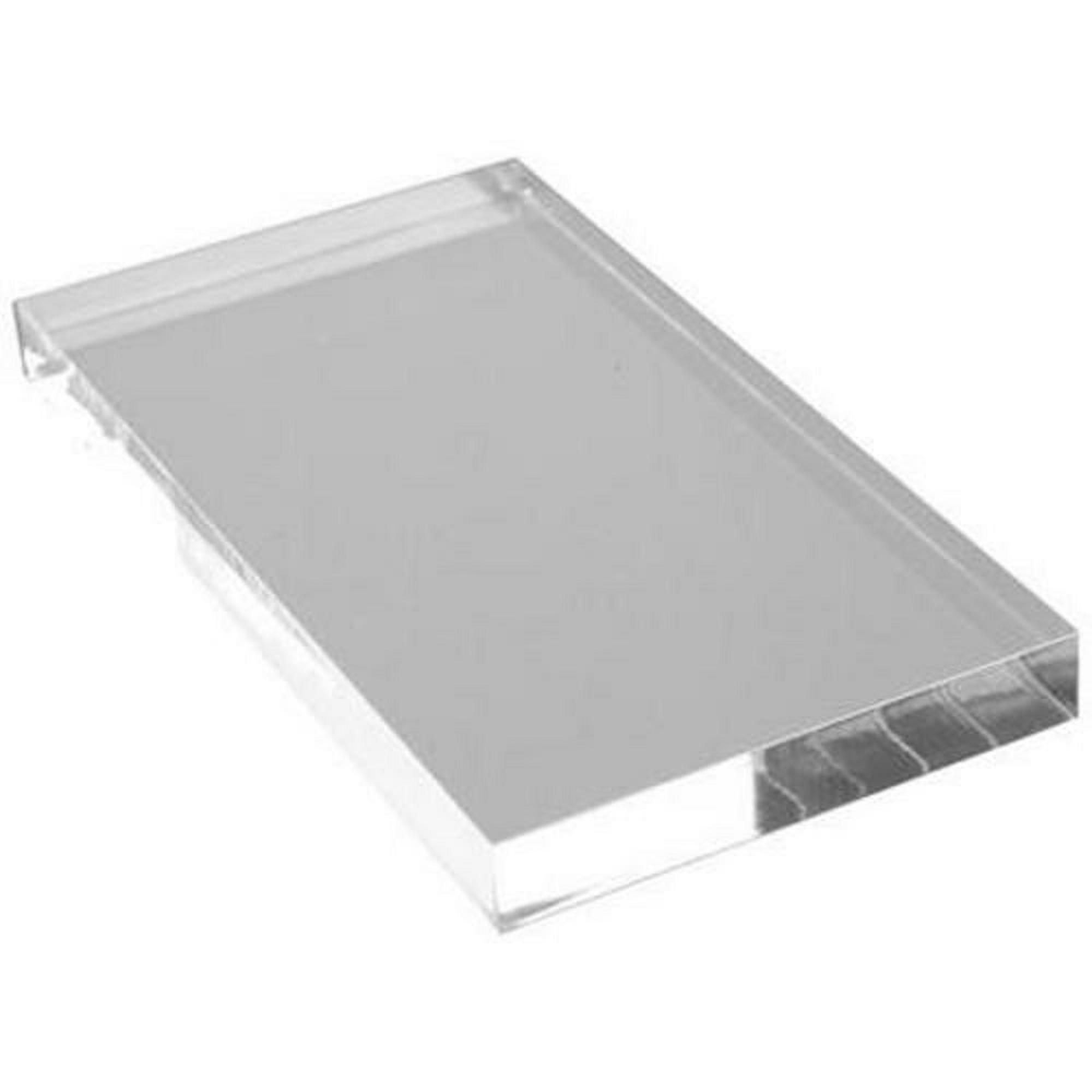 Clear Acrylic Stamp Block 58mm x 102mm x 10mm deep