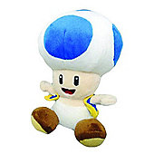 Blue Toad - 6.75 inch Plush - New Super Mario Bros Wii Deluxe Plush Series
