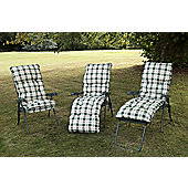 Swift Garden Furniture Capri Single Piped Recliner Chair - Hunter