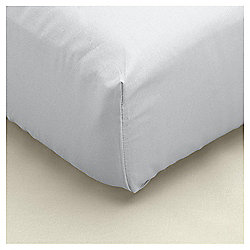 Single Fitted Sheet 100% Cotton 400 Thread Count - Silver