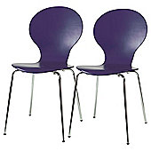 Bistro Chairs Pair Purple