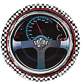 Racing Party Plates - 23cm Metallic Paper Party Plates