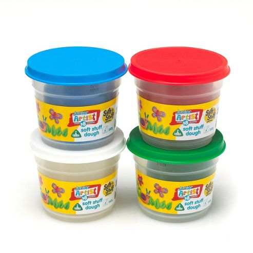 Soft Stuff 4 x 150g Doh Tubs - Standard Colours