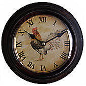 Wicker Valley Rooster Wall Clock