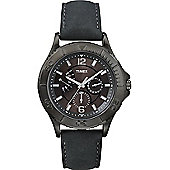 Timex Gents Mens Retrograde Black Dial Watch T2P178