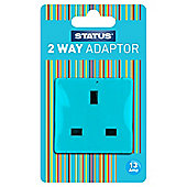 2 x USB Port Power Adaptor - Light Blue (311C) - Status - Plug Through - 2100mA - 1 pk - in a Clam Shell