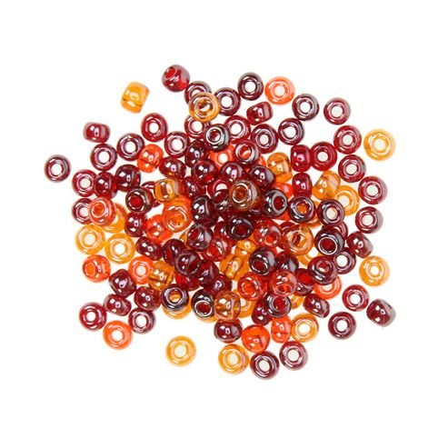 Czech Seed Bead 6/0 Luster Red Mix