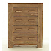Thorndon Block Bedroom Four Drawer Chest in Natural Matured Oak