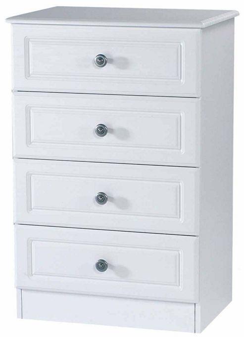 Welcome Furniture Pembroke 4 Drawer Midi Chest - Cream