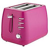 Tesco 2Tmu15 Pink Plastic2 Slice Toaster