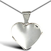 Jewelco London Sterling Silver shape Heart Pendant - 18 inch Chain