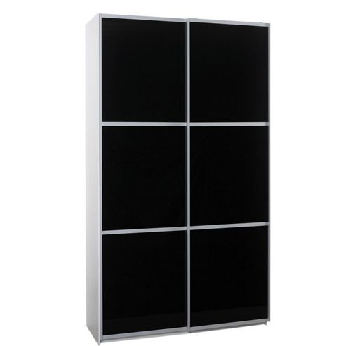 Altruna Sliding Door Wadrobe - Black