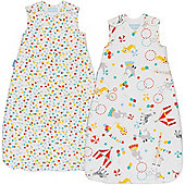 Grobag Twin Pack Roll Up 1 Tog Sleeping Bags (6-18 Months)