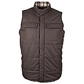 Severn Mens Showerproof Light Wind Resistant Fleece Padded Gilet Sleeveless Vest - Green